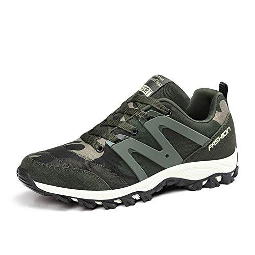 TAZAN Zapatillas De Baloncesto Running Para Hombre Al Aire Libre Sneakers Cuero Transpirable Zapatos Para Correr Gimnasio Waterproof Zapatillas De Senderismo Green 35-44EU,Verde,35