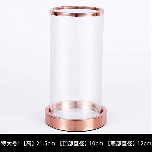 CFLFDC Kandelaar Rose Goud Dikke Kandelaar Tafel Glas Kaars Cup Bruiloft/Tafel Decoratie Kandelaar Grote