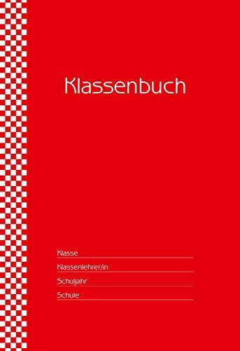 Klassenbuch Standard - 11 Stunden pro Tag - roter Umschlag: fr alle Schulformen