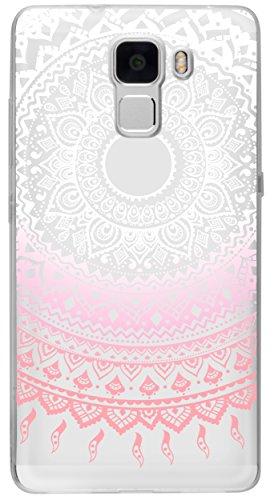 mumbi Hülle kompatibel mit Honor 7/7 Premium Handy Case Handyhülle mit Motiv Mandala rosa, transparent - 3