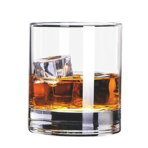 ChengBeautiful Vaso De Whisky De Cristal Sin Plomo de Vidrio cristalino del Vino Planas del Vidrio de Vino licores Glass Bar Bar Whisky for el hogar (Color : White, Size : One Size)