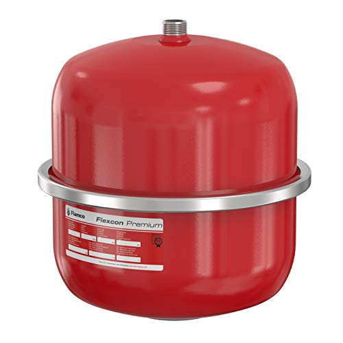 Flamco 16915 Flexcon Premium expansievat 12 liter, 3 bar voor centrale verwarming, verwarmingsinstallatie en koelinstallatie, rood