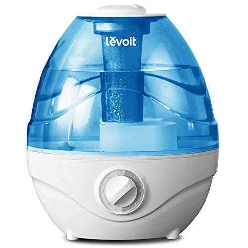 Luftbefeuchter Schlafzimmer, Levoit 2,4L Humidifier Raumbefeuchter mit 3 Nebelstufen Auto-Abschaltung, Ultraschall Luftbefeuchter Baby mit Nachtlicht, max.Betriebszeit 24 Std, 360° drehbare Dampfdüse