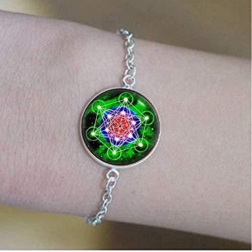 Metatron's kubus armband, spirituele sieraden, Mandala sieraden, cadeau voor hem, kunst geschenken charme sieraden