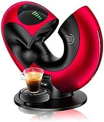 DELONGHI Nescafé Dolce Gusto Eclipse Máquina de café, 1500 W, efecto cepillado, EDG 737, B Cafetera Rot Metal