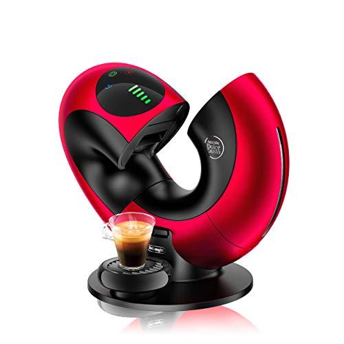 De'Longhi EDG736.RM | NESCAFÉ Dolce Gusto Eclipse | Kapsel Kaffeemaschine | Für heiße und kalte Getränke | 15 bar Pumpendruck für samtige Crema | Sensor Touch Bedienung |Red Metallic