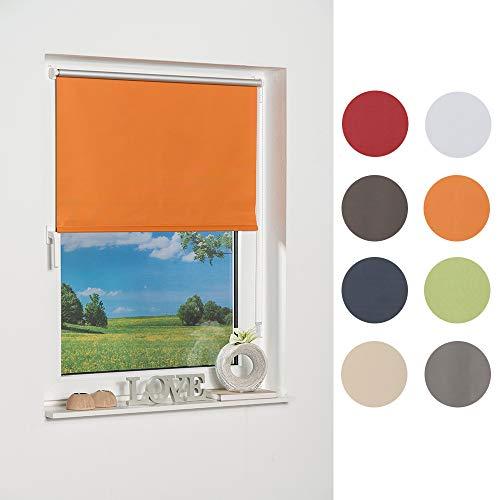 K-home Klemmfix-Minirollo 40150 (B:H) Orange Verdunklung, Stoff, 40 x 150 cm