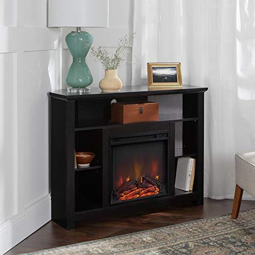 Middlebrook Designs 44' Highboy Corner Fireplace TV Stand - Black - 44 x 16 x...