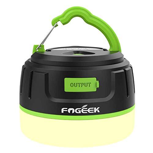 【アップグレード版/昇級版】 FOGEEK LEDランタン 暖色 電球色+昼白色 USB充電式 5200mAhモバイルバッテリ...