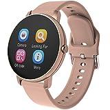 ZBY Reloj inteligente P8Y Bluetooth 4.2, impermeable, para hombre y mujer, presión arterial, frecuencia cardíaca, reloj inteligente