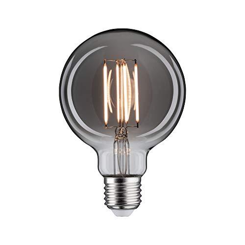 Paulmann 28608 LED Lampe Vintage G95 8 Watt Retro Leuchtmittel dimmbar Rauchglas Glas 2200 K Goldlicht E27