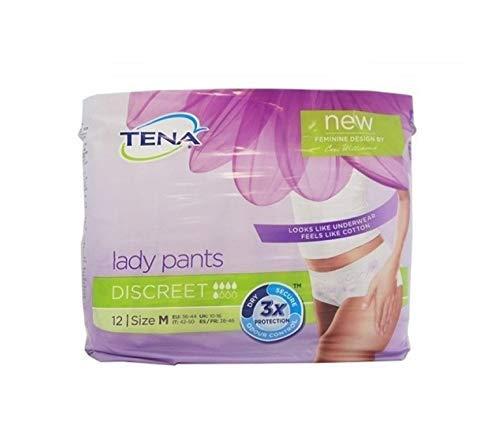 Tena Lady Tena Pants Plus Discreet Größe M (42/50) 12 Pezzi