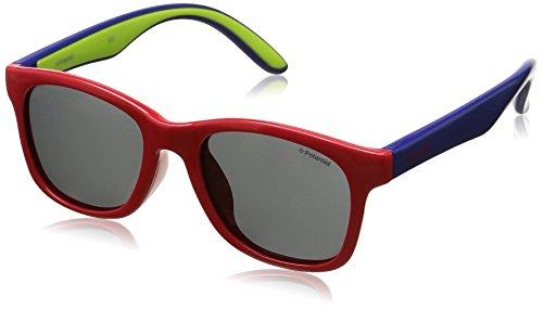 Polaroid PLD 8001/S Y2 T21 48 Gafas de sol, Rojo (Red Blue/Grey Pz), Unisex Niños