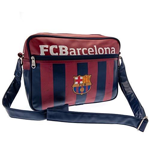 Barcelona Football Club Official Striped Messenger Shoulder Bag Badge Crest