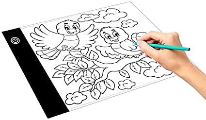 Tablero de Dibujo Digital LGmin 2.2W 5V LED Tres Niveles de Brillo Dimmable A5 Acrílico USB Copia Copia de Copia Anime Sketch Dibujo Sketchpad
