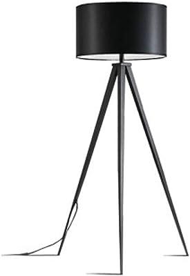 Modernluci Stehlampe Stativ Modern Stehleuchte f/ür das Wohnzimmer H/öhe:150 cm E27 Schwarz MEHRWEG Schlafzimmer Lampe Zeitnah Tripod Standleuchte Skandinavischer Stil mit Textilschirm,/ø 45 cm