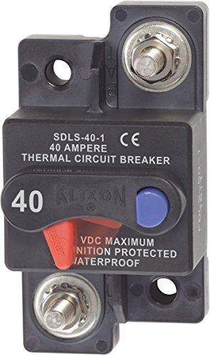 Blue Sea Systems 187 Series, 285 Series & Klixon Circuit Breakers, Klixon, Surface Mount, 40A DC