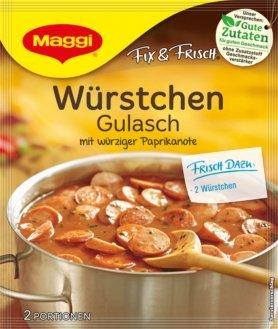 Maggi Fix & Frisch Würstchen Gulasch 6x 30 g