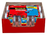 Scotch Heavy Duty Shipping Packaging Tape, 6 Rolls with Dispenser, 1.88