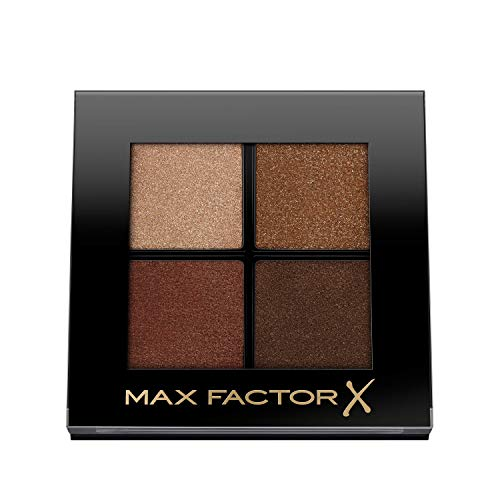 Max Factor Colour X-Pert Soft Touch Palette, 4 Ombretti dal Colore Intenso, Altamente Sfumabili, 004 Veiled Bronze