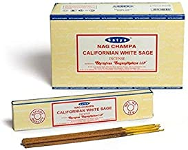 Satya Incense, 12 Boxes, 180 g (Californian White Sage)
