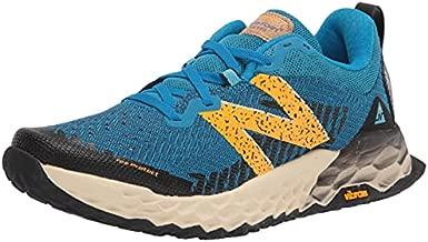 New Balance Men's Fresh Foam Hierro V6 Trail Running Shoe, Light Rogue Wave/Habanero, 10