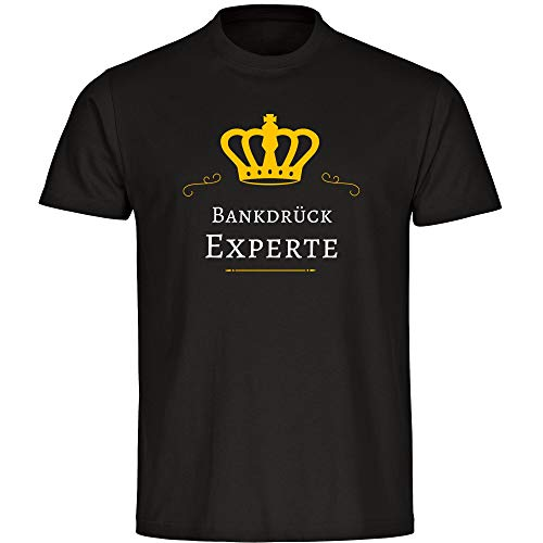 Kinder T-Shirt Bankdrück Experte - schwarz - Größe 128 bis 176, Größe:176