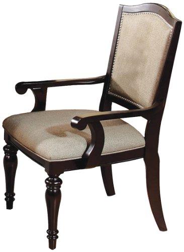 Furniture of America Glentelle Formal Arm Chair, Dark Walnut Finish, Set of 2