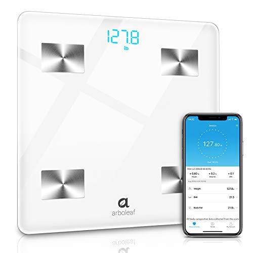 Intelligente BilanciaImpedenziometrica-Bilancia Pesapersone Digitale Bluetooth-11 Indici di Misurazione per Massa Grassa e Metabolismo Basale, con App per iOS & Android Smartphone, Utenti illimitati