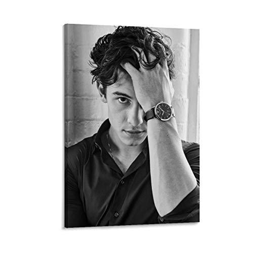 AMINIT Póster artístico de Canadá de Shawn Mendes y arte de pared, diseño moderno, para decoración de dormitorio familiar, 40 x 60 cm