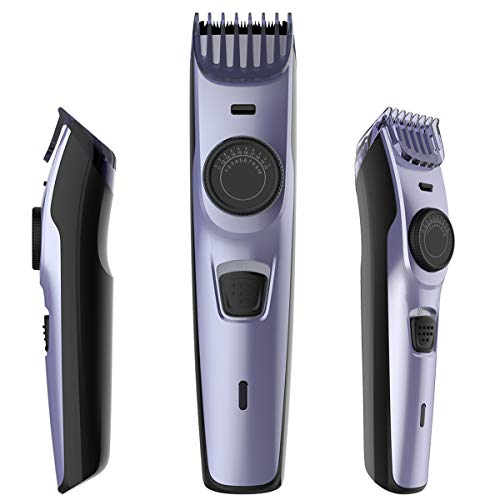 Professional Waterproof Barber Clipper, USB Rechargeable Mens Hair Clipper with Free Nail Trimmer, Cordless Hair Cutting Machine, Electric Body Hair Trimmer for Men, 2 Combs