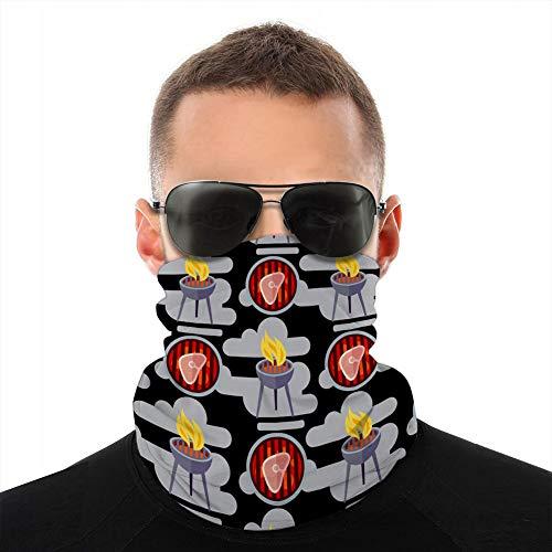 Enveloppe en Microfibre pour la tête/Le Cache-Cou, Housse de Protection pour Barbecue avec Motif sans Couture avec de la Viande Couverture Anti-Soleil