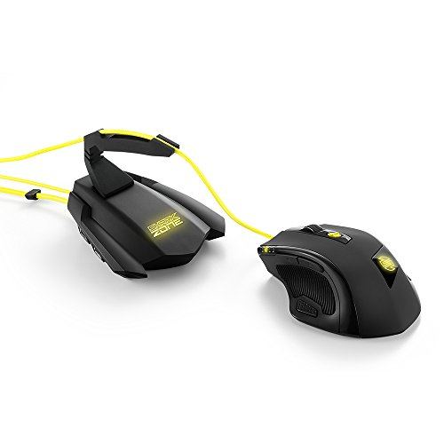 Sharkoon Shark Zone M51+ Gaming Laser Maus inkl. Bungee Hub schwarz