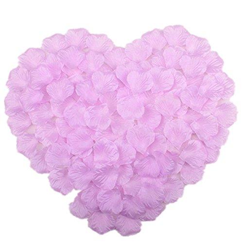 Vivianbuy 1000 PCS Artificial Silk Flower Lilac Rose Petals for Wedding Party Bridal Decoration