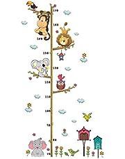 LIOOBO Gráfico de Crecimiento en Pared Pegatina de Animales Elefante León Tabla de Altura Graphic of Growthpara Niños