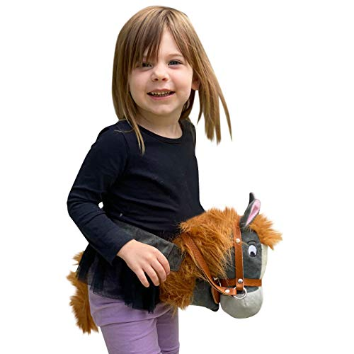Papap Pony Original Handsfree Hobby Horse: Reimagined Stick Horse (Children Age 2-5) Hand-Crafted Plush Riding Toy for Toddlers and Preschoolers