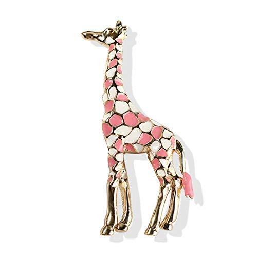 LGJJJ Giraffe Brosche Stilvolle Mehrfarbige Tropföl Brosche Exquisite Frauen Emaille Brosche Mantel Anzug Kleidung Schmuck Dekor