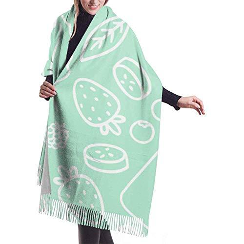 Laglacefond wintersjaal kasjmier voel je vruchten bessen smoothie glazen omtrek sjaal stijlvolle sjaal wraps zachte warme deken sjaals