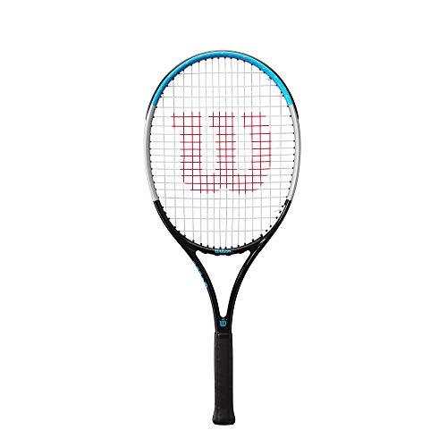 Wilson Raqueta de tenis, Ultra Power 25, Jugador junior de 9-10 años , Grafito/Aluminio/Fibra de vidrio, Azul/Gris/Negro, WR055710U