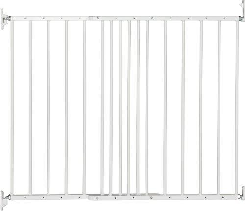 BabyDan Multidan–Barrera de seguridad extensible de metal (color blanco)
