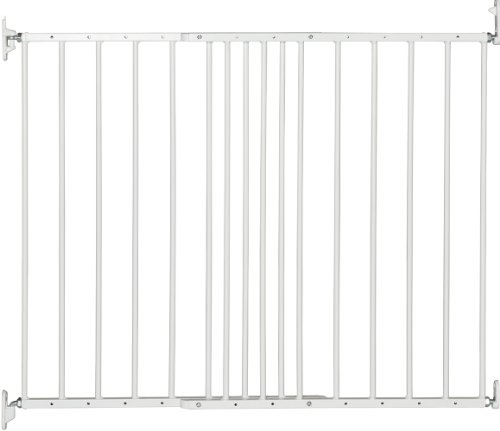 BabyDan Multidan Extending Metal Safety Gate, White - Fits Openings 62.5cm - 106.8cm - Screw Fit