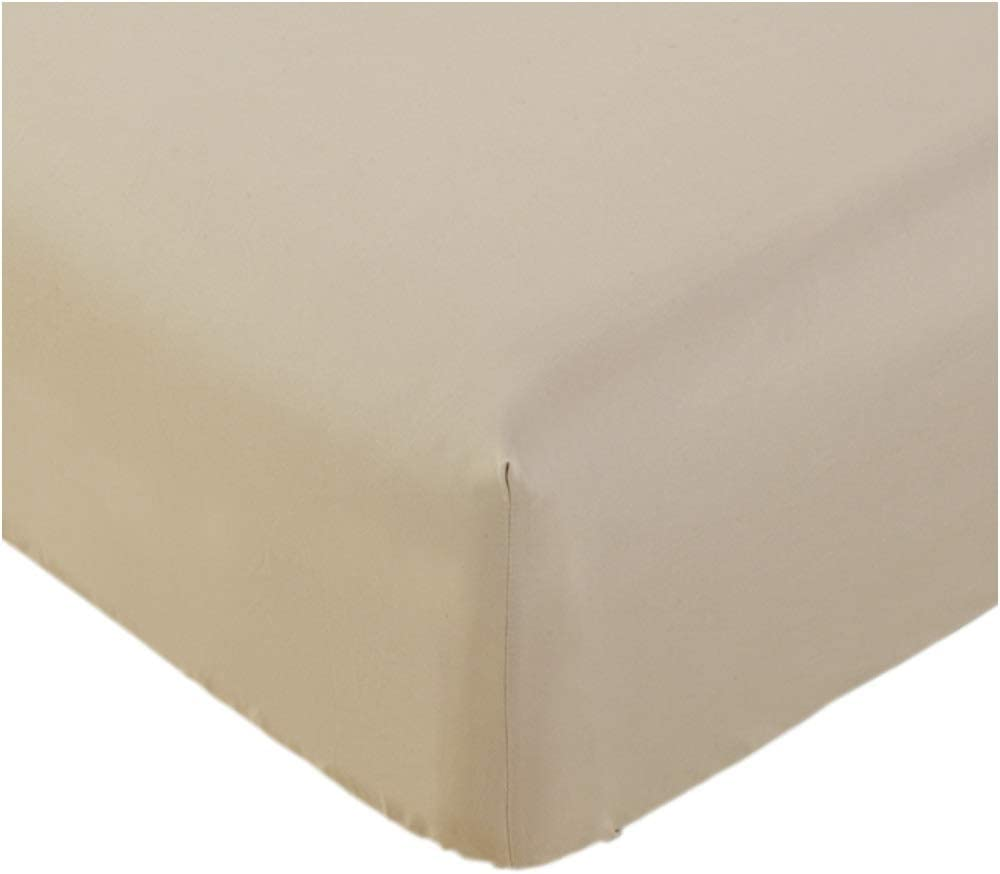 Mellanni King Fitted Sheet - Deep Pocket Cooling Sheets up to 16 inch - All Around Elastic - Hotel Luxury 1800 Bedding - Wrinkle, Fade, Stain Resistant - 1 Single King Fitted Sheet Only (King, Beige) : Home & Kitchen