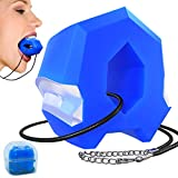 Jawline Exerciser - Face Lift & Neck Muscle Trainer, Double Chin Eliminator Exercise Ball, Perfect Jawline Shaper, Chisel Chin, Facial Toner Training, Jaw Definer Mouth Workout for Men & Women (BLUE)