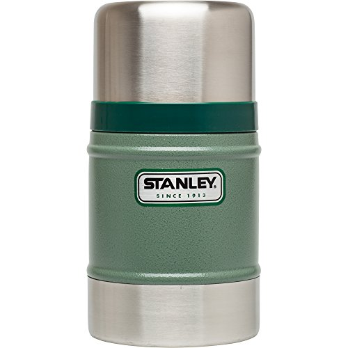 Stanley Legendary Classic Vakuum-Speisebehälter 0.5 L, Hammertone Green, 18/8 Edelstahl, mit Becher, Auslaufsicher, Food Container Thermobehälter Lunchbox