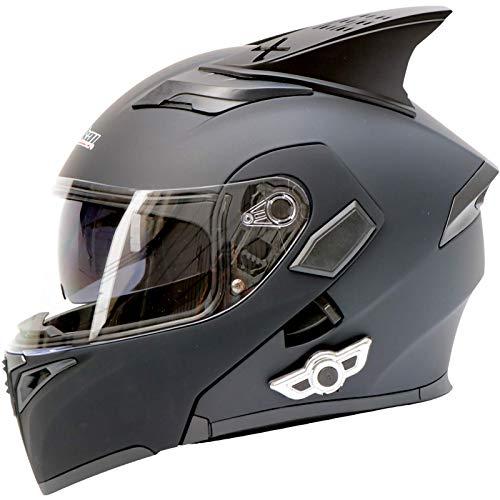 SJAPEX Bluetooth Integrado Casco de Moto Modular,con Doble Visera Cascos de Motocicleta ECE Homologado a Prueba de Viento para Adultos Hombres Mujeres C,M=57~58cm