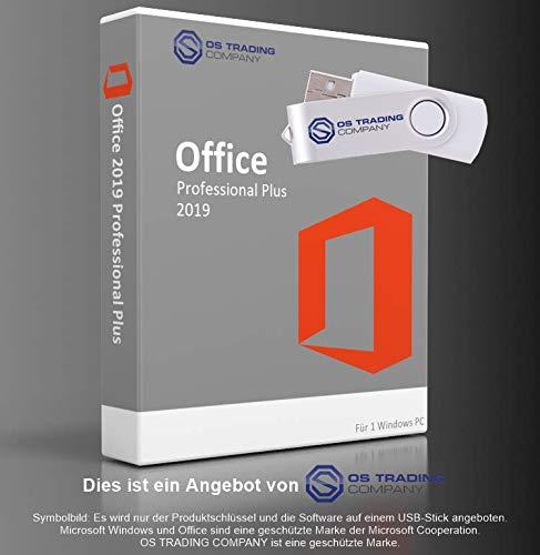 Office Professional Plus 2019 32/64 Bit Deutsch Aktivierungsschlüssel mit USB Memory Stick von OS-TRADING-COMPANY®