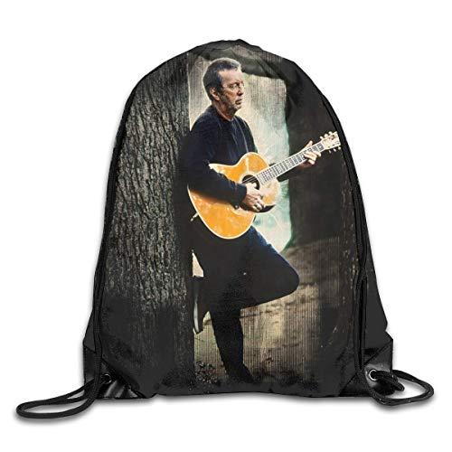 JHUIK Drawstring Bag Backpack,Eric Clapton Complet Clapton Mode Bundle Sac à Dos Sacs à bandoulière Homme Femme extérieur Cordon Design Sac Taille Unique