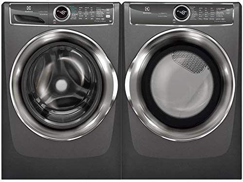 """Electrolux Titanium Front Load Laundry Pair with EFLS627UTT 27"""" Washer and EFME627UTT 27"""" Electric Dryer"""