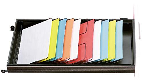 SSI Schäfer Formulareinsatz Schrägablage, 7 Fächer DIN A4, für Schübe 600 mm Tiefe, für Schublade 3 Höheneinheiten, H 106 x B 328 x T 480 mm