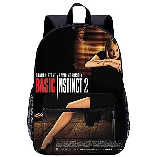 HNXSY mochila Basic Instinct Señoras para la escuela Mochila para portátil Mochila escolar Mochila elegante con tableta para Universidad / Viajes / Mujeres / Hombres